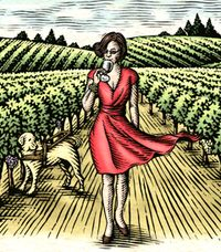 Lady in the Vineyard