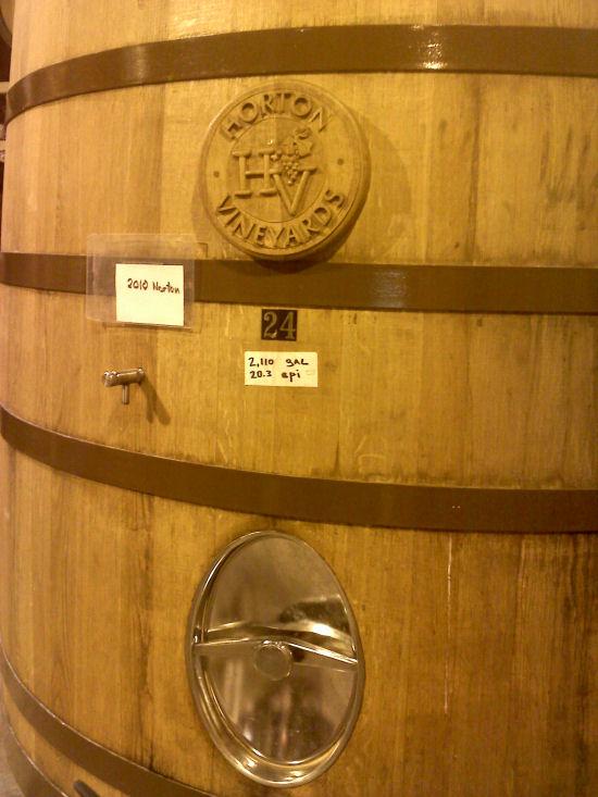 Cellar Barrel Close Up