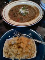 Gumbo and Mac And Cheese