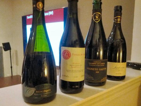 The Lambrusco wines