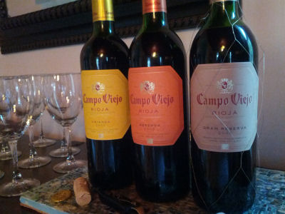 Campo Viejo Three Bottles on angle