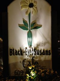 Black-Eye Susans Sign 2