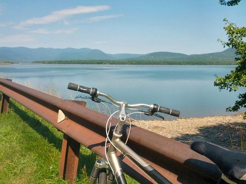 Bike Ride on Ashokan Reservoir