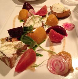 Heirloom Beets and Goat Cheese