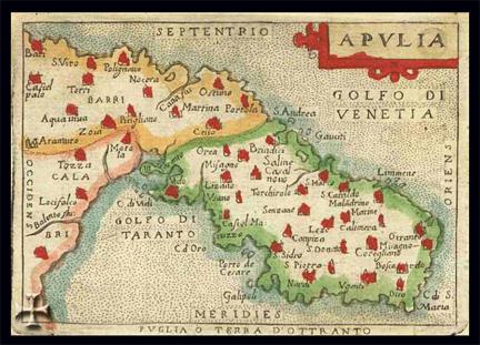 Antique puglia-map