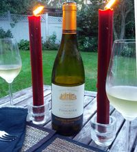 Wine with candles
