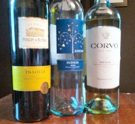 Three Insolia Wines