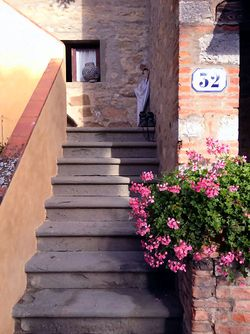 Castello D'Alba stairs