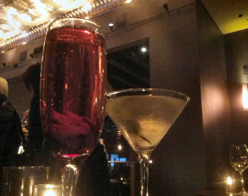 The Park Royale  Cava Organic Hibiscus Syrup & Dirty Martini