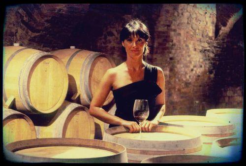 Chiara Boschis in the Cellar