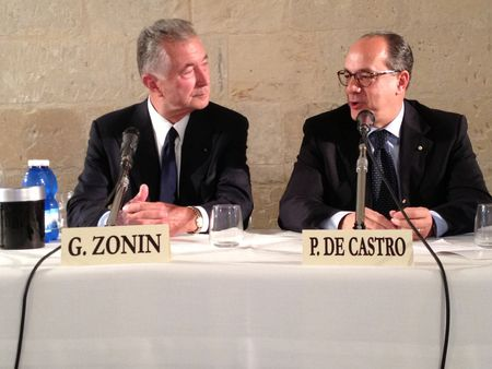Gianni Zonin and Italian Agriculture Minister Paolo De Castro