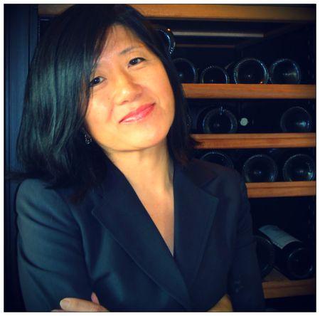 Stevie Kim in Wine Cellar