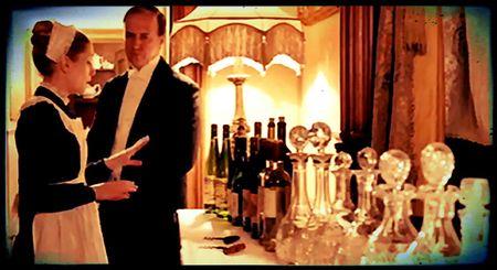 Anna advises Mr Molesley on the wine service