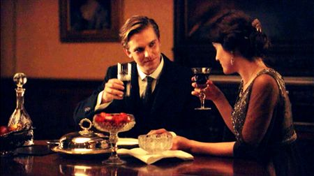 Mathew Crawley and Mary Crawley Toast