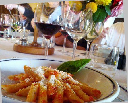 Castello D'Albola dinner pasta