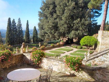 Castello D'Albola View of Garden