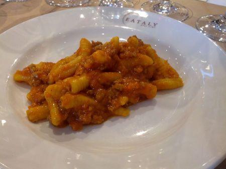 Malloreddus con sugo di salsicca & Pomodoro
