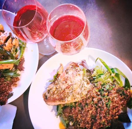 Salmon Dinner with Vitiano Rosato enhaned