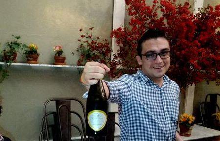 Waiter Shows Wine