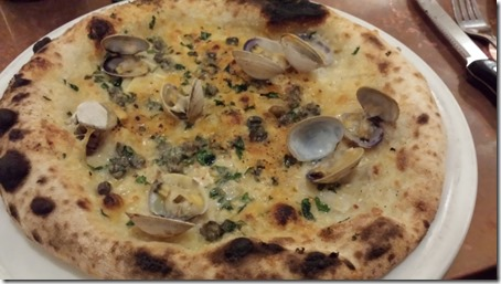 2 Amys Vongole Pizza garlic, capers, parsley, hot pepper, cockles, grana