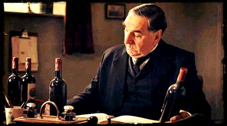 Downton Abbey Mr Carson Counts The Wine