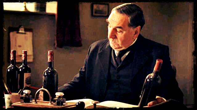 Downton Abbey Mr Carson Counts The Wine