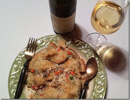 Chicken Pot Pie and Alsatian Wine