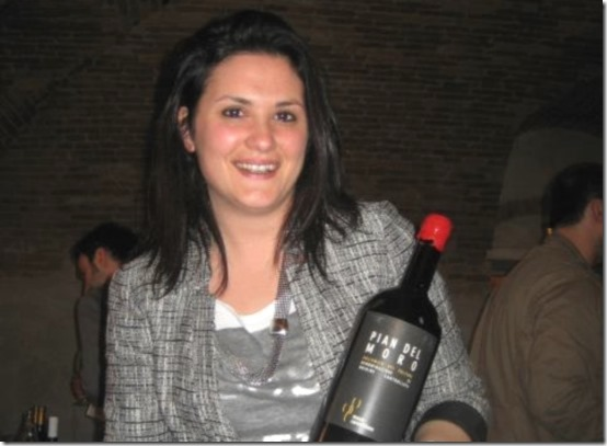 Elisabetta musto carmelitano holding wine