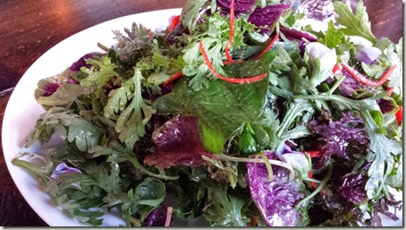 Chrysanthemum Salad - lime and mountain flower oil dressing