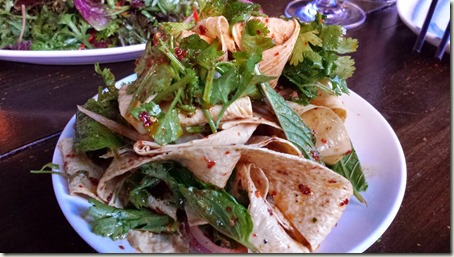 Tofu Ribbons Salad