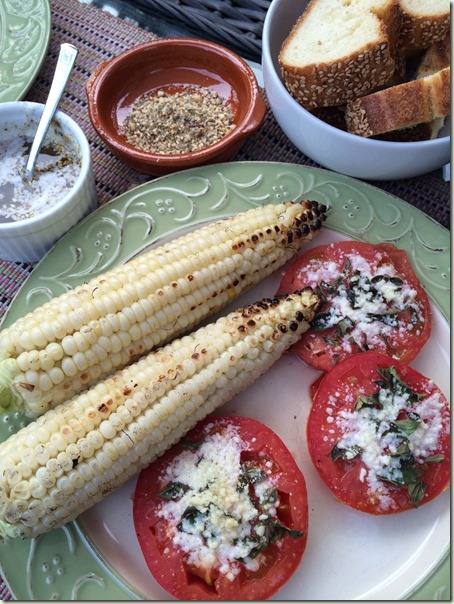 Grilled Corn and Tomatoes