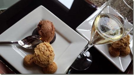 Venegazzu Montelvini Asolo Prosecco Superiore Millesimato with dessert