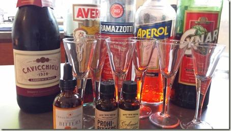 Lambrusco Amari and Bitters