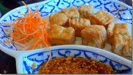 Tofu Tord Fried Bean Curd with Peanut Sauce