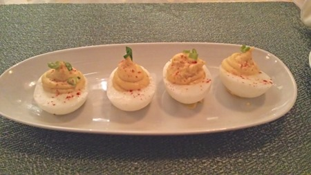 Ariane Kitchen and Bar Wine Deviled Eggs
