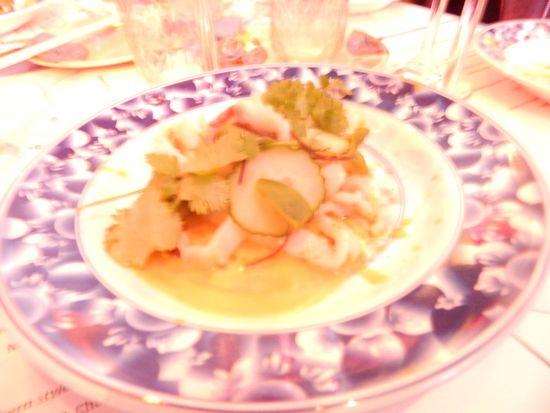 Market Fish Crudo, Yuzu, Cocnut, Radish, Celery, Pear