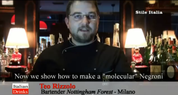 Ted Rizzolo Bartender Nottingham Forest Milano Negroni Molecular