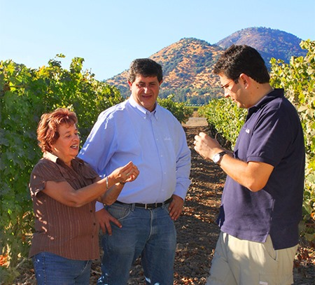 Andrés Ilabaca and Cecilia Torres Wine Makers