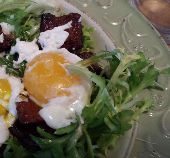Frissee salad Close