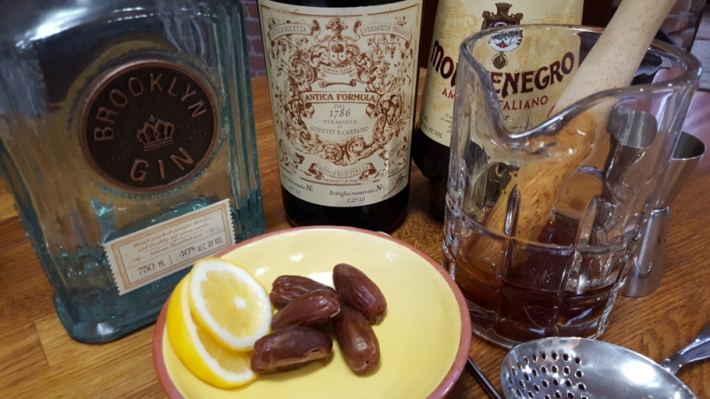 Date Negroni in Ingredients